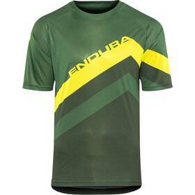Endura SingleTrack Core Print Maillot à manches courtes Homme, forestgreen